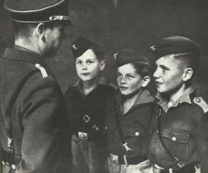 Young people and children indoctrinated Nazi-Germany