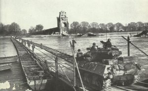 US troops cross the Rhine near Worms
