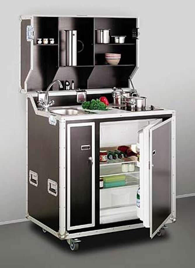 Mini kitchen fits studio or inlaw unit  In tiny spaces furniture must be multitalented  SFGate