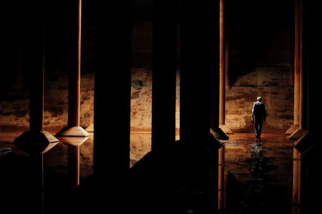 "From 2012: Landscape architect Kevin Shanley (president and CEO of the SWA Group) was one of the consultants stunned by the underground reservoir's beauty. He was the one who dubbed it ""the Cistern."" It reminded him of the ancient Roman cisterns under Istanbul. Photo: Mayra Beltran / © 2012 Houston Chronicle"