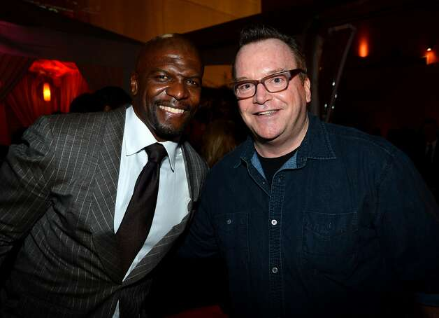 "Actors Terry Crews and Tom Arnold attend the after party for the Lionsgate Films'""The Expendables 2"" premiere on August 15, 2012 in Hollywood, California.  (Frazer Harrison / Getty Images) / SF"