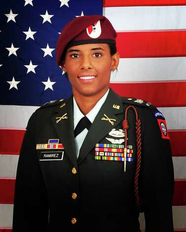 Chief Warrant Officer 2 Thalia Ramirez. Ramirez was killed when her OH-58D Kiowa Warrior helicopter crashed in eastern Afghanistan Sept. 5, 2012. Ramirez was assigned to Troop F, 1-17 Air Cavalry Regiment, 82nd Combat Aviation Brigade, 82nd Airborne Division. Photo: Photo Courtesy Pro Image Digital;Inc., Courtesy / U.S. Army