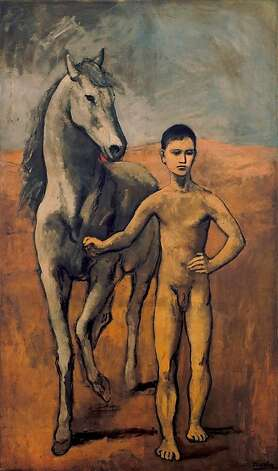 Pablo Picasso (Spanish, 1881Ð1973)<br /><br /><br /><br /><br /><br /><br /><br /><br /><br /><br /><br /><br /><br /><br /> Boy Leading a Horse<br /><br /><br /><br /><br /><br /><br /><br /><br /><br /><br /><br /><br /><br /><br /> Paris, 1905Ð1906<br /><br /><br /><br /><br /><br /><br /><br /><br /><br /><br /><br /><br /><br /><br /> Oil on canvas<br /><br /><br /><br /><br /><br /><br /><br /><br /><br /><br /><br /><br /><br /><br /> 86 7/8 in. x 51 5/8 in. (220.6 x 131.2 cm)<br /><br /><br /><br /><br /><br /><br /><br /><br /><br /><br /><br /><br /><br /><br /> The William S. Paley Collection, courtesy of The Museum of Modern Art, New York Photo: The William S. Paley Collection, MOMA / SF
