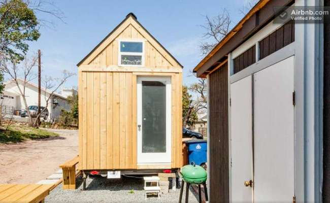 Austin Texas Tiny House The 8 Foot By 12 Foot Space