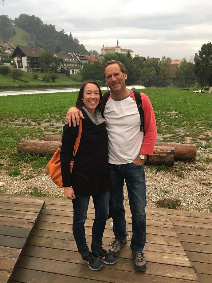 Russ and Jill Sartori, of Tomales, in Skofja Loka, Slovenia Photo: Courtesy Russ & Jill Sartori