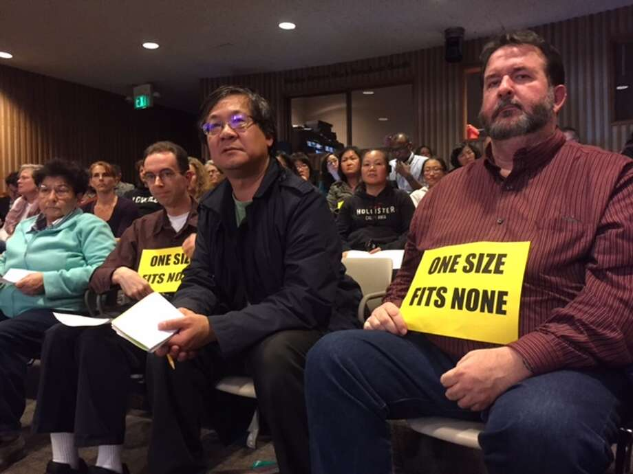 Parents at the San Francisco school board meeting called on the district to increase opportunities for high-performing students.