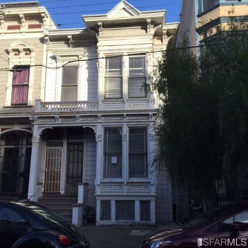The first time on the market in over 40 years, this fixer-upper at 708-710 Buchanan St. in Hayes Valley hit the market at $1.558 million in Jan. 2016. Photo: SFMLS
