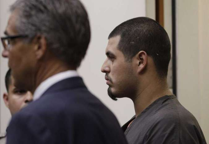 Antolin Garcia-Torres, right, appears with unidentified attorney in a Santa Clara County courtroom in San Jose, Calif., for his second court appearance Thursday, May 31, 2012. He is accused of the kidnapping and murder of 15-year-old Sierra Lamar in Morgan Hill, Calif. She was last seen on March 16, 2012. (AP Photo/Paul Sakuma) Photo: Paul Sakuma, Associated Press