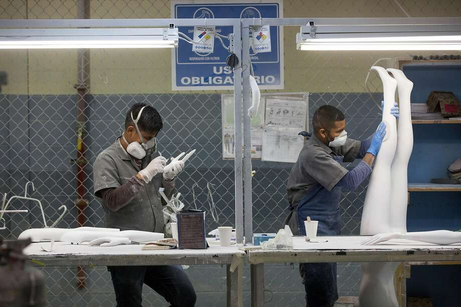 Workers produce mannequins in Mexico. The tax law could add foreign assembly lines. Photo: IVAN PIERRE AGUIRRE, NYT