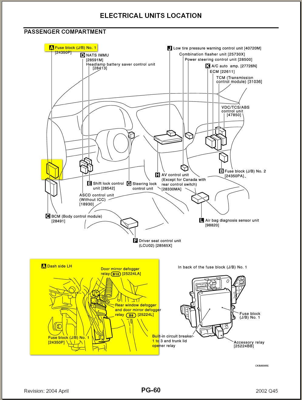 2002 Infiniti Q45 Fuse Box Diagram   Wiring Diagram on