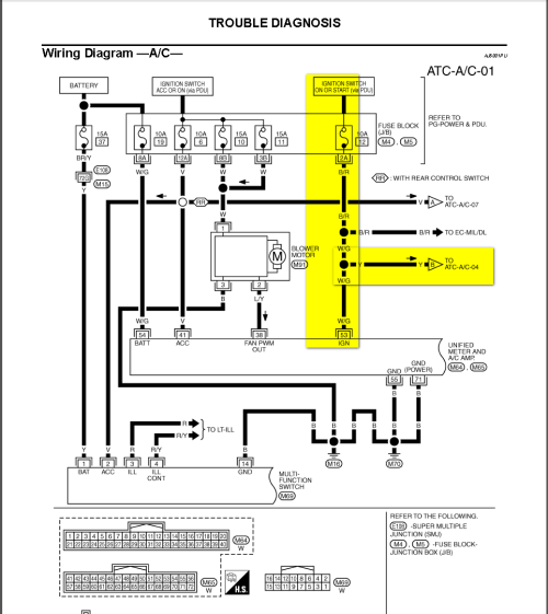 small resolution of infiniti g35 climate control wiring diagram infiniti infiniti iat sensor