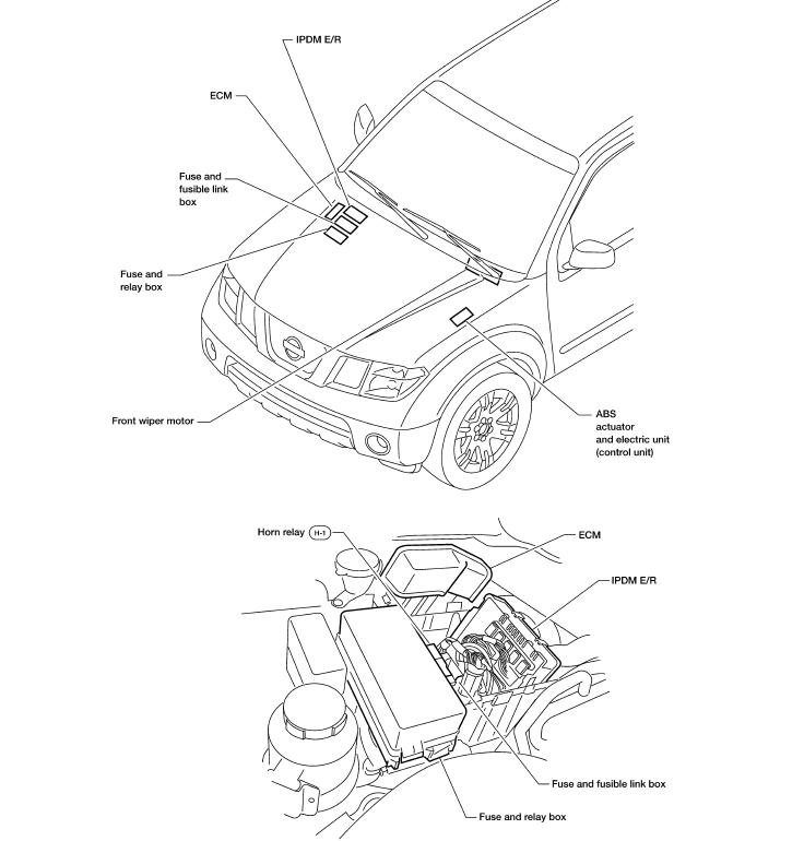 2007 nissan xterra fuse box diagram