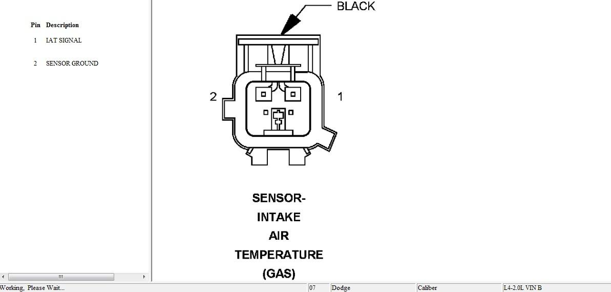 ¿Me puede decir dónde está el sensor IAT en un Dodge Caliber