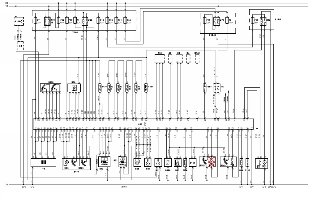 Necesito el diagrama de TODO el alambrado eléctrico en co