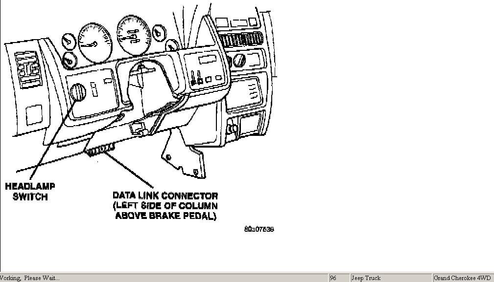 donde esta el conector obdii en un grand cherokee zj v8 5.
