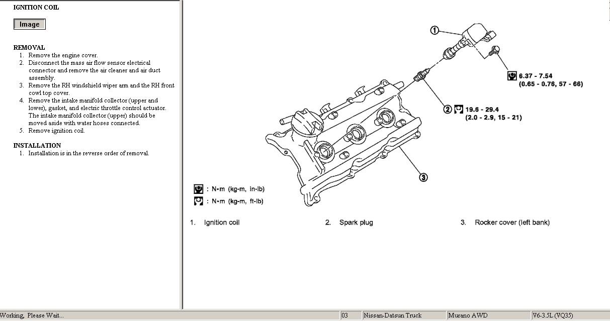 como cambiar bobinas interiores e n motor v6 murano 2003?