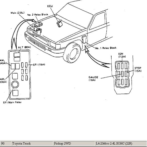 toyota diagrama de cableado de la bomba