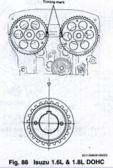Diagrama Cadena De Tiempo Nissan Sentra 2002, Diagrama