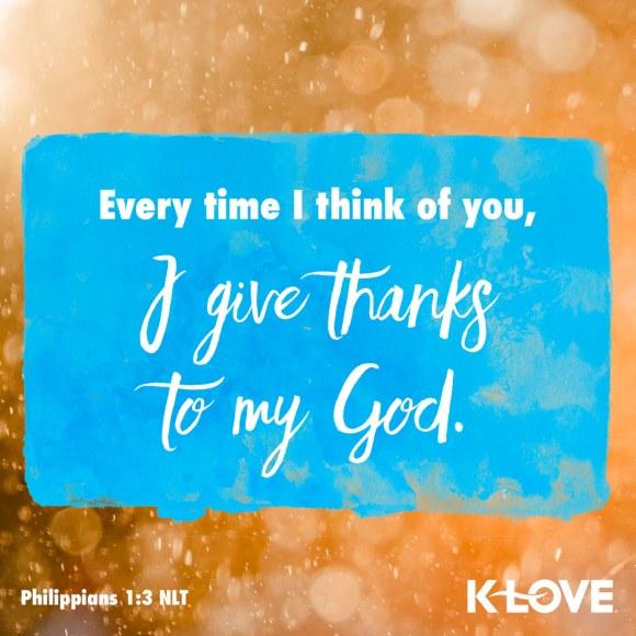 Philippians 1:3 NLT