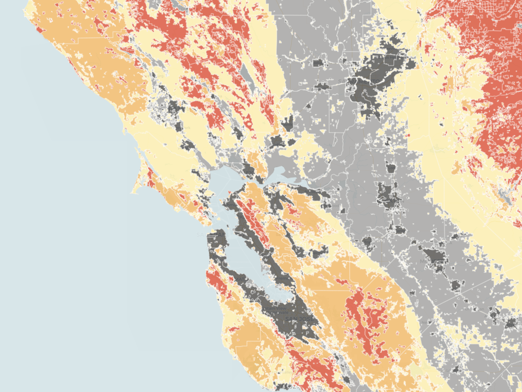 Learn more about the different wildfire seasons in california and how you can prepare for the. Map Do You Live In A High Risk Fire Zone Kqed