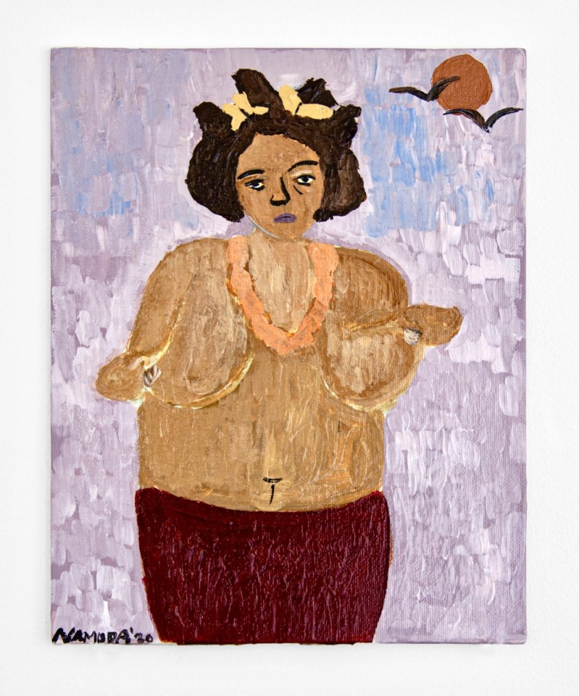 Cassi Namoda, 'Nouricce of Negus, from Abysinnia, posing by the moonlight,' 2020, Acrylic on canvas, 10 x 8 in.