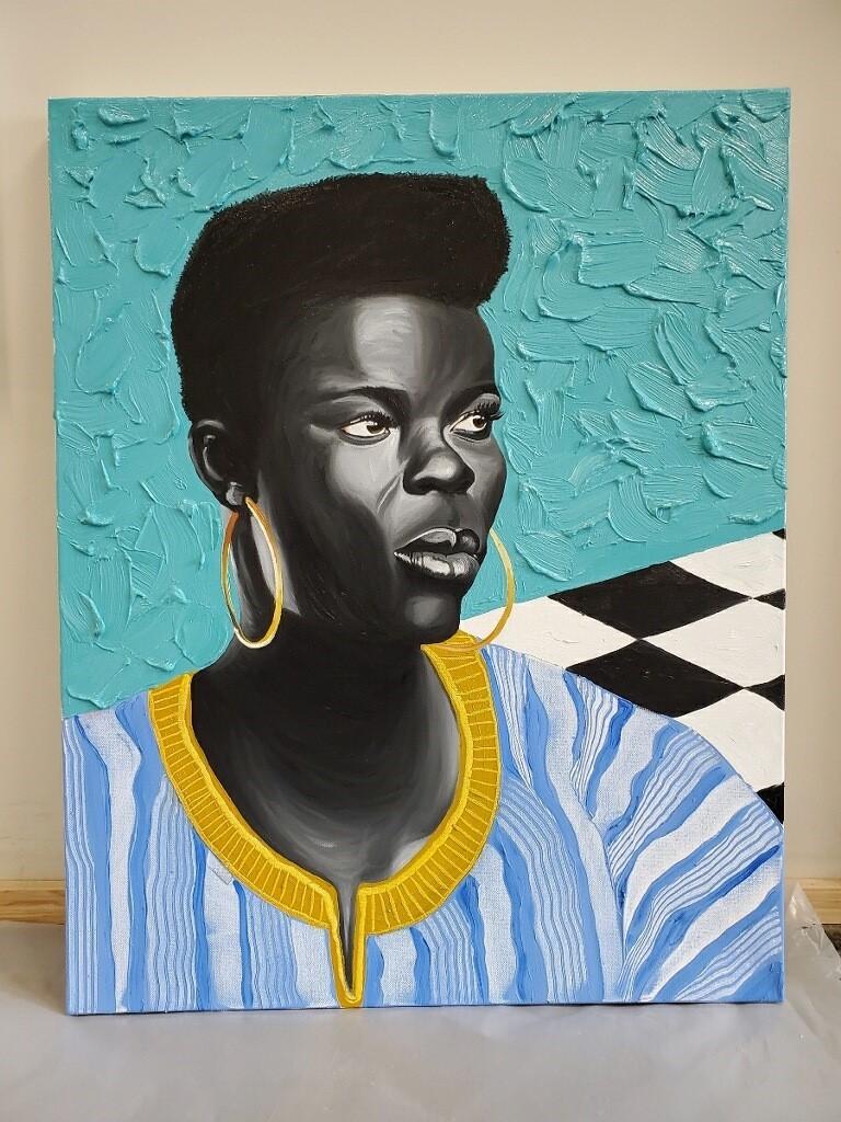Otis Kwame Kye Quaicoe, 'Wiyaala,' 2020, Oil on canvas, 30 x 24 in.