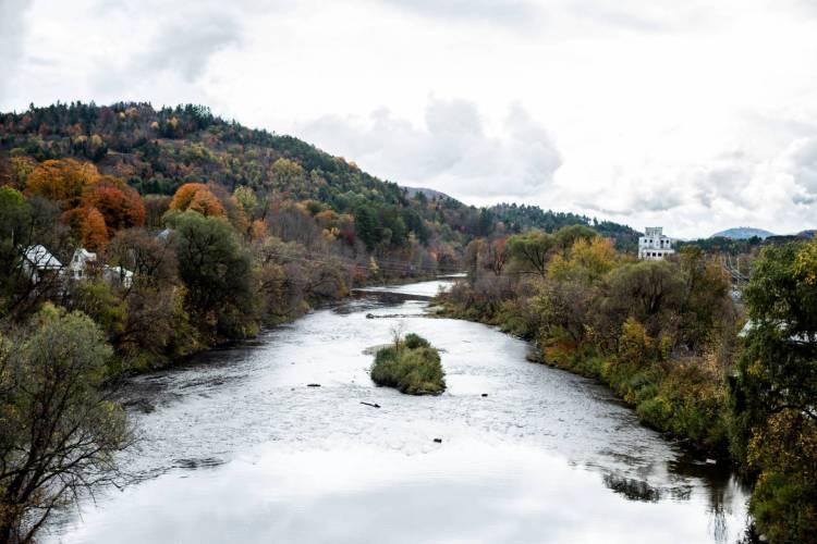 Passumpsic River in Saint Johnsbury, Vermont