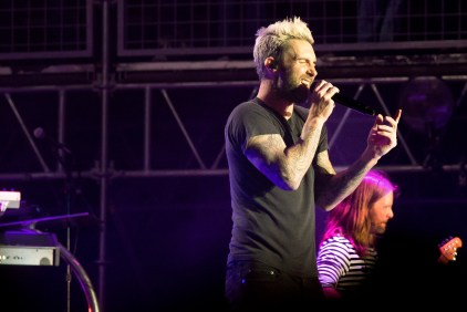 Adam Levine of Maroon 5 performs at BottleRock in Napa, May 26, 2017.