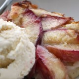 A Luscious Sweet Summer Nectarine Upside-Down Cobbler
