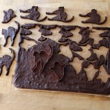Halloween Treats: Chewy Chocolate Scaredy Cat Brownie Cookies