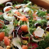 An Ode to Bartavelle: A Hearty Seasonal Salad with Radicchio, Fennel, Grapefruit and Hazelnuts