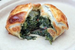 Spinach empanada interior