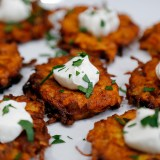 Holiday Party Food: Root Veggie Fritters
