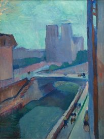 "Henri Matisse, ""Notre Dame, A Late Afternoon,"" 1902; oil on paper mounted on canvas; Collection Albright-Knox Art Gallery."