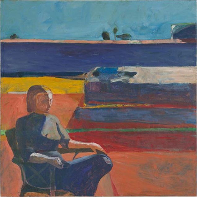 "Richard Diebenkorn, ""Woman on a Porch,"" 1958; New Orleans Museum of Art."