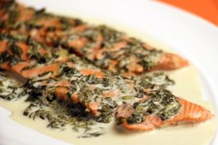 Salmon Scaloppine with Sorrel Sauce