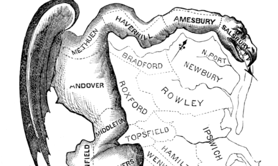 The Strange Geometry of Gerrymandering (with Lesson Plan