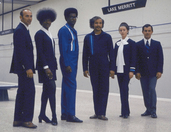 No, not the original Star Trek cast: BART employees in the early 1970s.
