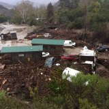 Flood Sweeps Vehicles and Cabins Down Canyon Near Santa Barbara