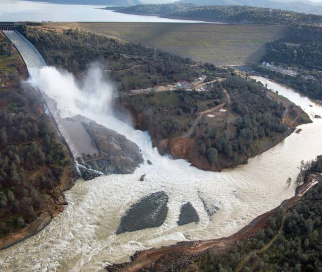 An Aerial View Of The Damaged Oroville Dam Spillway Feb 27 2017