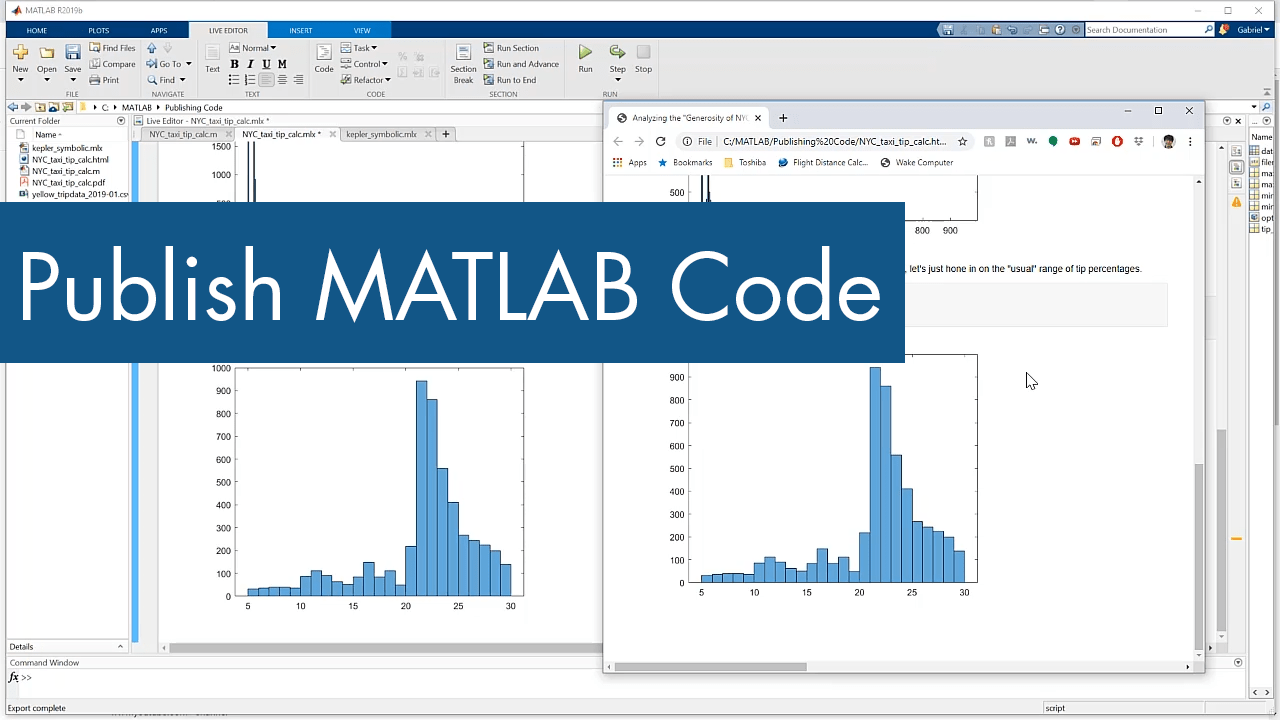 Publishing MATLAB Code from the Editor - Video - MATLAB