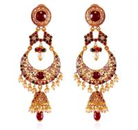 22Kt Gold Chand bali with Jhumki - ErEx18192 - [Earrings ...