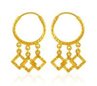Hoop Earrings 22Kt Gold - ErHp20540 - [Earrings > Hoop ...
