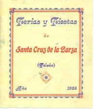 Programa Fiestas 1.933 - Portada