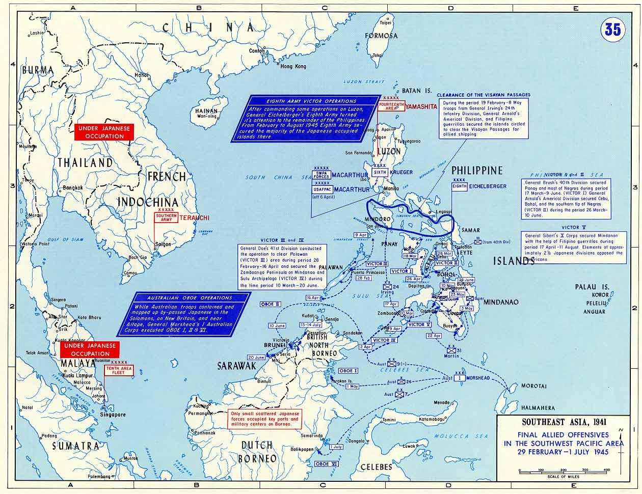 Map Map Of Final Allied Offensives In The Southwest