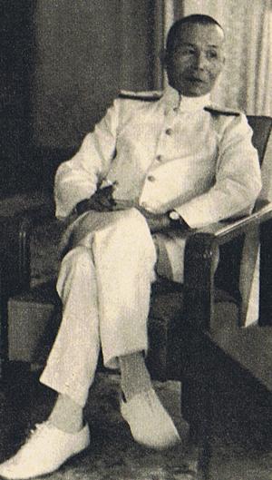 Japanese Navy Vice Admiral Jisaburo Ozawa, Commander-in-Chief of the Southern Expeditionary Fleet, Saigon, Vietnam, 16 Nov 1941