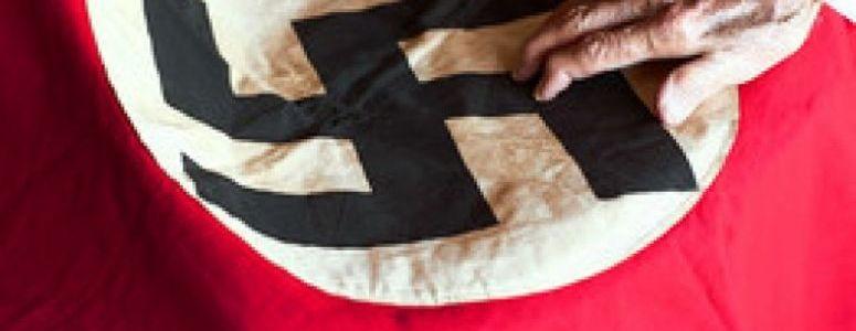 The Nazi 1923 Blutfahne or Blood Flag  - WW2 Gravestone