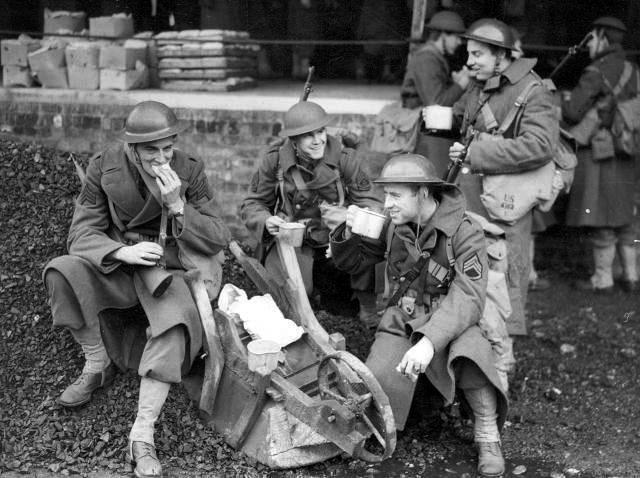 Image result for tea being served after blitz