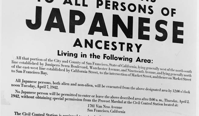 Instructions to all persons of japanese ancestry out of the desert.