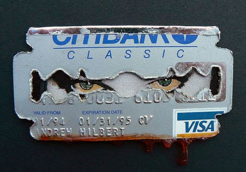 Melted Credit Card Art